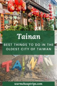 Things to di in Tainan