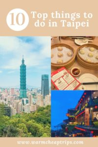 Top 10 things to do in Taipei